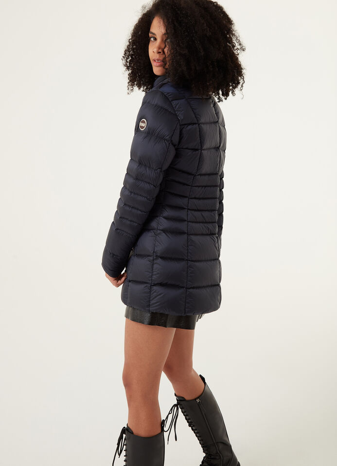 Long down jacket with high collar image number 0